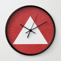 abyss Wall Clocks featuring Abyss by Roxy Leaver