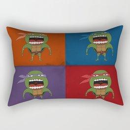 Screaming Turtles Rectangular Pillow
