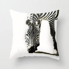Zebra - paint Throw Pillow