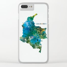 Colombia Clear iPhone Case