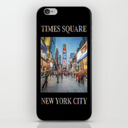 Times Square Sparkle (with type on black) iPhone Skin