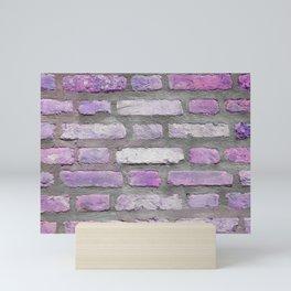 Venetian Bricks in Pink and Lavender Mini Art Print