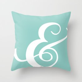 The Lovely Ampersand - Cyan Throw Pillow