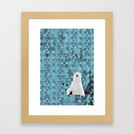 Polar Bear (in a hole in the ice) Framed Art Print