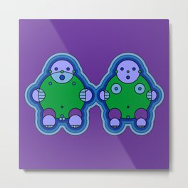 Bubbly People Metal Print