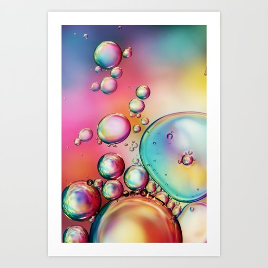 Bubble Rainbow Art Print