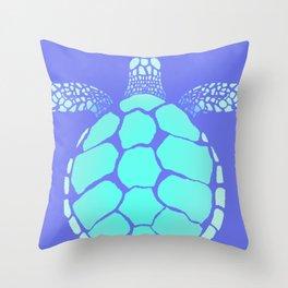 Ocean Blue Turtle Throw Pillow