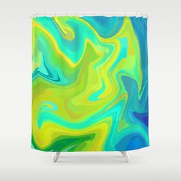 Distorted Earth Shower Curtain