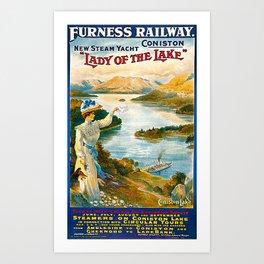 Furness Railway and Lady of the Lake Art Print