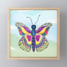 Butterfly III on a Summer Day Framed Mini Art Print