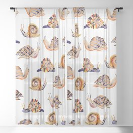 Snail Collection Sheer Curtain
