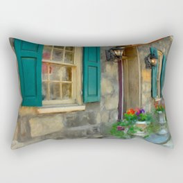 A Victorian Tea Room Rectangular Pillow