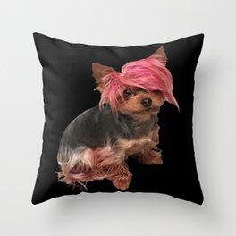 Angela cat Throw Pillow