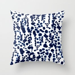 Navy Dalmatian Throw Pillow