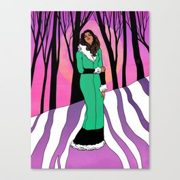 Sonja in the Woods Canvas Print