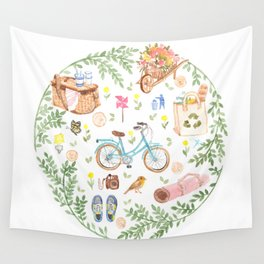 Eco city style Wall Tapestry