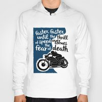hunter s thompson Hoodies featuring Hunter S. Thompson Moto Girl  by Peated Proverbs