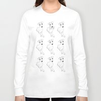 puppies Long Sleeve T-shirts featuring whippet puppies  by Emese M