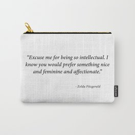 """Zelda Fitzgerald """" It Girl"""" Carry-All Pouch"""