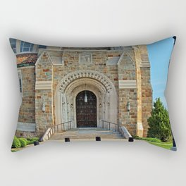 Old West End Our Lady Queen of the Most Holy Rosary Cathedral Door II- horizontal Rectangular Pillow