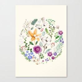 Winter Flowers Canvas Print