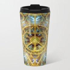 Sacred Geometry Fractal Mandala Metal Travel Mug