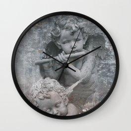 Fallen little Angels angelic Musicians Wall Clock