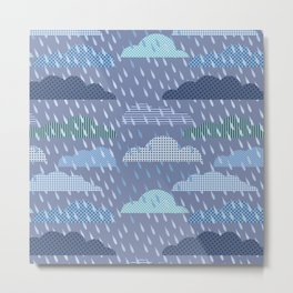 pattern with clouds. Vector pattern Metal Print