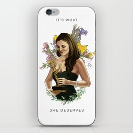 """""""It's What She Deserves + Text"""" iPhone Skin"""