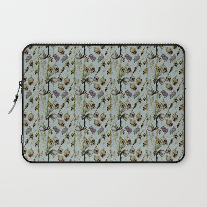 Dead Rose & Snapdragon Pattern Laptop Sleeve