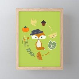 Cute fox in autumn II Framed Mini Art Print