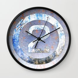 Bold Number 2 Wall Clock