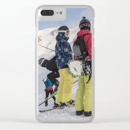 Skiers 2017 Clear iPhone Case