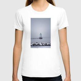 Burlington Breakwater North Lighthouse T-shirt