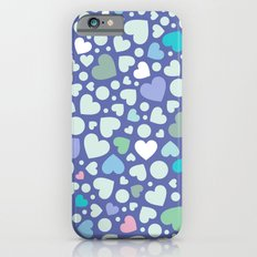 Ditsy Hearts ('80s Pastels) iPhone 6s Slim Case