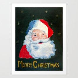 The Jolly Old Elf Art Print