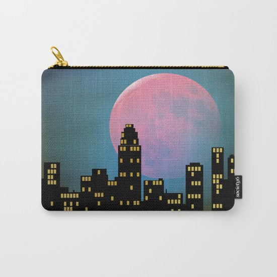 Super Moon over the City Carry-All Pouch