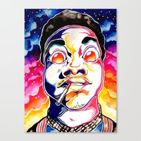 chance the rapper Canvas Prints featuring Chance The Rapper  by Clara Bacou