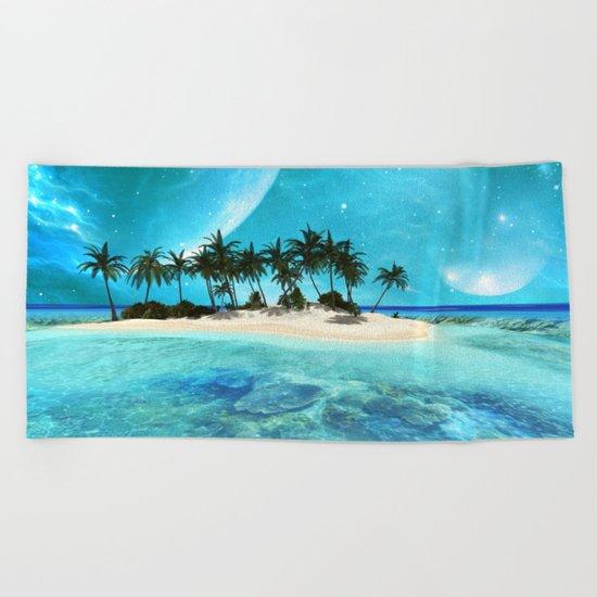 Wonderful tropical island Beach Towel