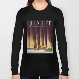 Wild Life - National Parks Preserve All Life Long Sleeve T-shirt