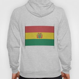 Flag of Bolivia. The slit in the paper with shadows. Hoody