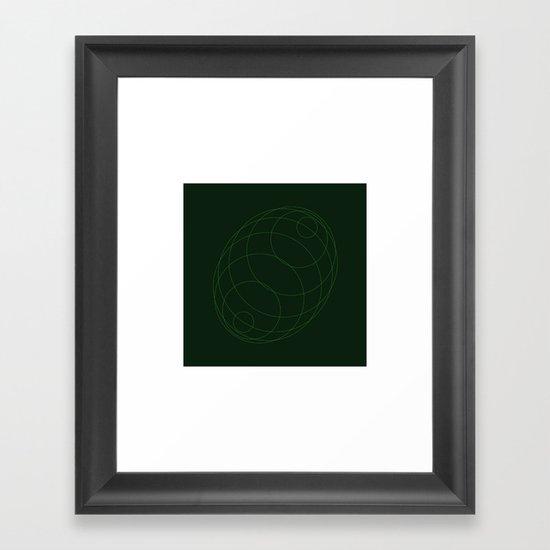 #298 Echo chamber – Geometry Daily Framed Art Print
