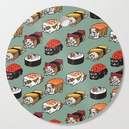 Sushi English Bulldog Cutting Board