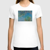 monet T-shirts featuring Claude Monet Wisteria by Elegant Chaos Gallery
