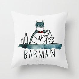 Barman Throw Pillow