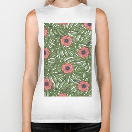 Tropical flowers Biker Tank