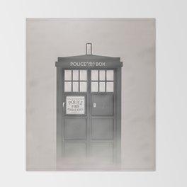 Vintage Police Box Throw Blanket
