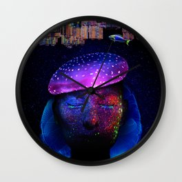Jellyfish Head, photographic composition Wall Clock