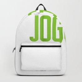 jogging running marathon runner girl funny gift T-Shirt Backpack