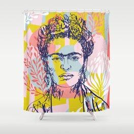 Fierce like Frida Shower Curtain